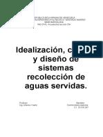 IDEALIZACION CALCULO Y DISEÑO DEssitemas de Recciolecion de Aguas Servidas