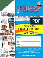 Catálogo Didacsan 2016-2017  Precios