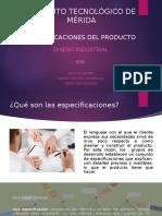 Especificaciones Del Producto