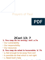 Paul's Prayer  Class 7