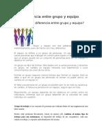 8-Diferencia Entre Grupo y Equipo