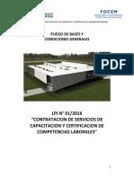 LPI FOCEM 01 16 Pliego de Bases y Condiciones Generales