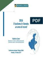 Turismo in Veneto 2016