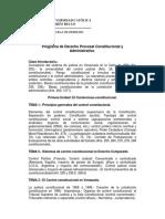Derecho Procesal Constitucional y Administrativo Programa