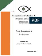 Guía Para Examen de Admisión a CCH_2017