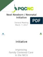 PQCNC 2018 Neo Initiative Family Centered Care in the NICU