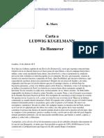 Marx - Carta a Ludwig Kugelmann; 12 de Abril de 1871