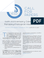 PA 60th Year - Call for Papers