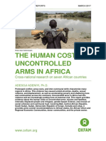 The Human Cost of Uncontrolled Arms in Africa