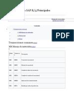 Introducción a SAP R3 Principales Transacciones