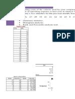Spread Sheet Summary Stat