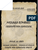 Misiunea Romaniei Observata Prin Clarvedere