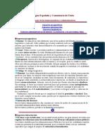 Lengua Española y Comentario de Texto