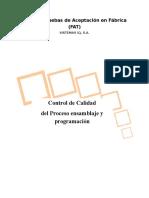 Protocolo de Pruebas de Taller PRY AIDO v2