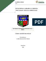 Gestion de Suelo_universidad Nacional Agraria La Molina