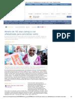 Mineira de 102 Anos Começa a Ser Alfabetizada Para Concretizar Sonho - Gerais - Estado de Minas
