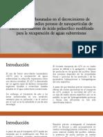 Presentación - Hidrogeología - Recuperación Aguas Subterráneas con Nanopartículas