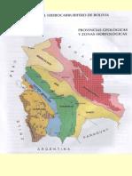 Provincias Geologicas en Bolivia