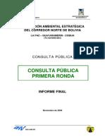 Evaluación Ambiental Estratégica Consulta Publica Primera Ronda
