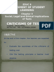 Educ6 Chap3 Criticism of Testing at Moral