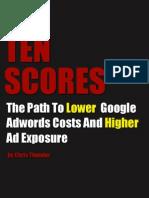 How To Get Higher (10/10) AdWords Quality Scores - Tenscore.com