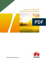 HUAWEI AR1200 Series Enterprise Routers Datasheet