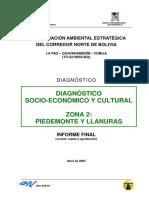 Evaluacion Ambiental Estrategica Del Corredor Norte de Bolivia Diagnostico Socio Economico y Cultural Piedemonte y Llanuras