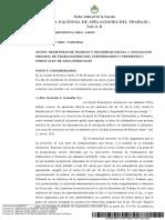 Sentencia revocatoria de personería gremial AGTSyP