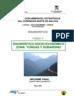 Evaluacion Ambiental Estrategica Del Corredor Norte de Bolivia Diagnóstico Socio-económico y Cultural Yungas y Subandino