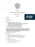 Town council meeting agenda 3/14/17