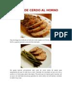 Carne de Cerdo Frita
