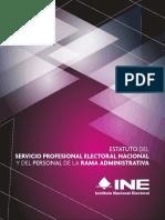 Estatuto Del Servicio Profesional Electoral Nacional y Del Personal de La Rama Administrativa