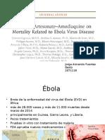 Efecto de Artesunato-Amodiaquina Sobre La Mortalidad Relacionada Con La Enfermedad Del Virus Del Ébola