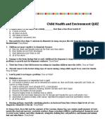healthy environment quiz