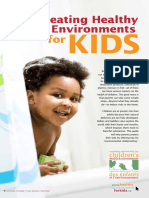 creating a healthy environment for kids
