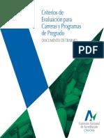 Criterios de Evaluación Para Carreras y Programas de Pregrado