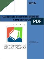 Cuaderneta de Nomenclatura Quimica Organica