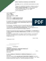Contrato de Compra y Venta de Vehiculo Automotor