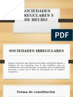 Sociedades Irregulares y de Hecho Diapositivas