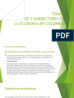 Tema Sectores y Subsectores en Colombia