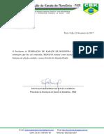 Portaria FKR 001-2017 - Nomeação Técnico Kumite