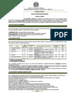 Edital de Abertura Conselho Quimica PB