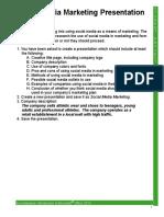 cev social media marketing presentation instructions