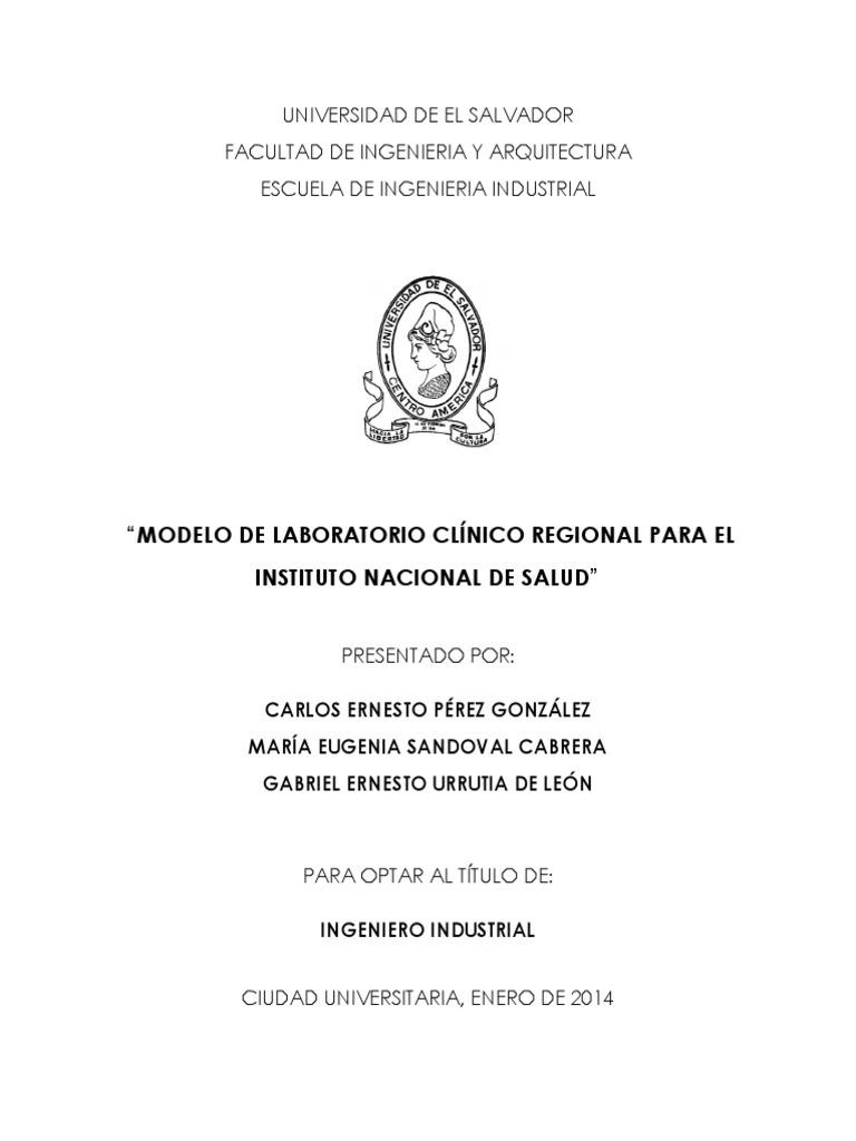 Modelo de Laboratorio Clínico Regional Para El Instituto Nacional de ...