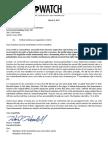 Texas Watch Written Testimony on SB 10
