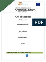 Plan de Negocios Modelo Vacio