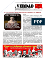 La Verdad, órgano de divulgación del PCS, N° 15, febrero 2017
