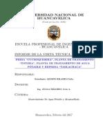 informe de visita tecnica del Curso de Abastecimiento de Agua y Alcantarillado