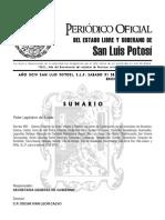 Decreto 855.- Valores Catastrales de Los 34 Municipios San Luis Potosí (31-DIC-11)