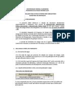 Edital de Selecao de EstagiariosEEIMVR